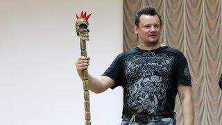 Андрей Князев в детском рок-лагере «Мыс Рока» (Подмосковье, 27.07.2013)