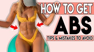 HOW TO GET ABS 😍 Simple tricks \u0026 mistakes to avoid