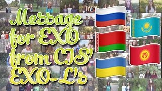 [KOR/ENG SUB] Message for EXO from CIS' EXO-L's