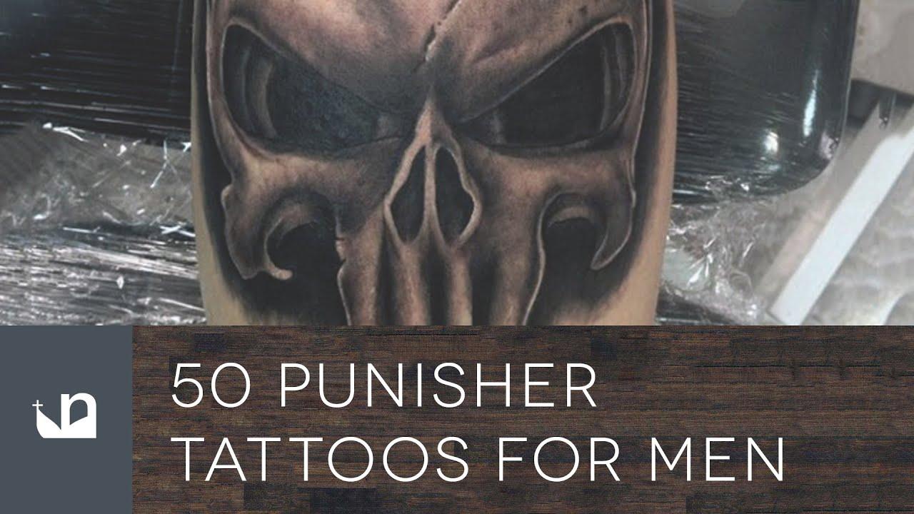 266263ad3c5e9 50 Punisher Tattoos For Men - YouTube