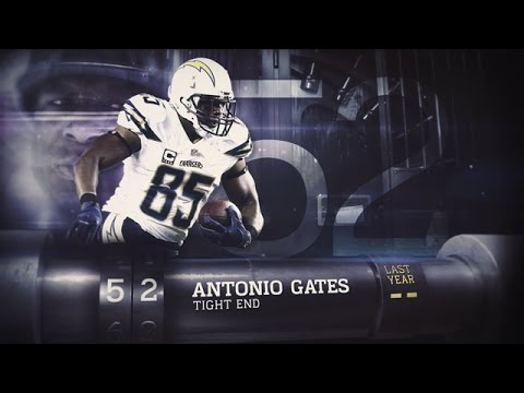 #52 Antonio Gates (TE, Chargers) | Top 100 Players of 2015