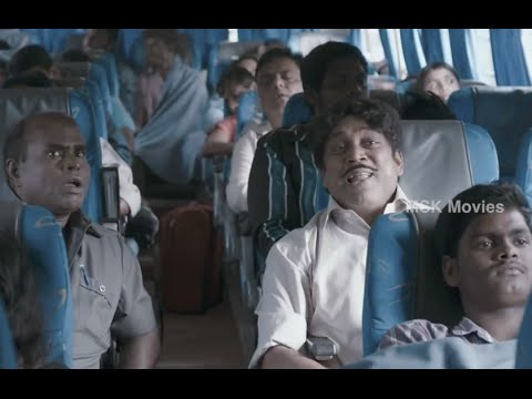 Thambi Ramaiah Comedy Scene @ Bus - Athithi ( Cocktail Malayalam Movie Remake) Tamil Movie Scene