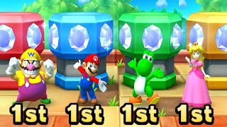 Mario Party Series MiniGames Wario Vs Mario Vs Yoshi Vs Peach (Master CPU)