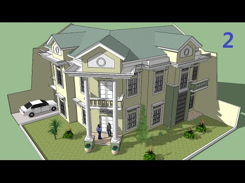 Sketchup tutorial Make a house building Part 1 - YouTube