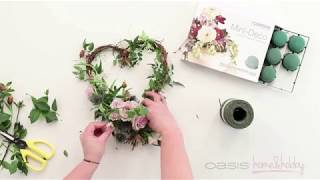 OASIS® Home & Hobby - How-to: Heart Wreath