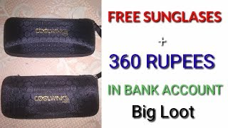 Free sunglasses and 363 ruppes in bank account. Biggest loot offer 👍👍👍 ( cashcaro.com