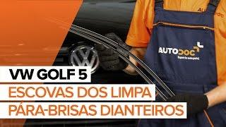 Instalar Escovas do Limpa Vidros dianteiro e traseiro VW GOLF V (1K1): vídeo grátis