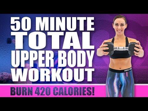 50 Minute Total Upper Body Workout 🔥Burn 420 Calories! 🔥Sydney Cummings