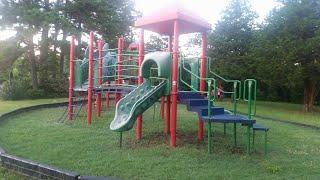 Razors embedded in playground slides
