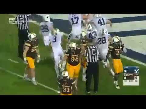 WEATHER PLAYING A FACTOR EARLY ON AS WYOMING BOTCHES A PUNT LEADING TO GREAT FIELD POSITION FOR BYU