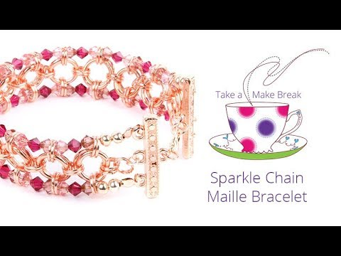 Sparkle Chain Maille Bracelet | Take a Make Break with Beads Direct