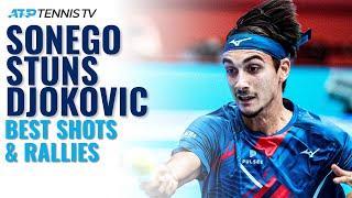 Best Shots & Rallies as Lorenzo Sonego STUNS Djokovic! | Vienna 2020 Quarter-Finals