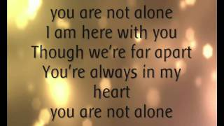 Download Michael Jackson - You Are Not Alone. (Lyrics). MP3 song and Music Video