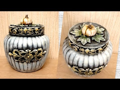 DIY /Vintage glass jar decoration idea/Jar crafts
