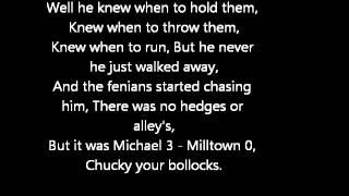 Rab C - Michael 3 Milltown 0 - Lyrics