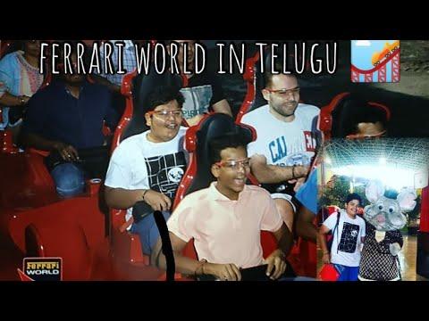Exploring Ferrari World in Telugu / Experiencing World's fastest roller coaster, lifetime experience