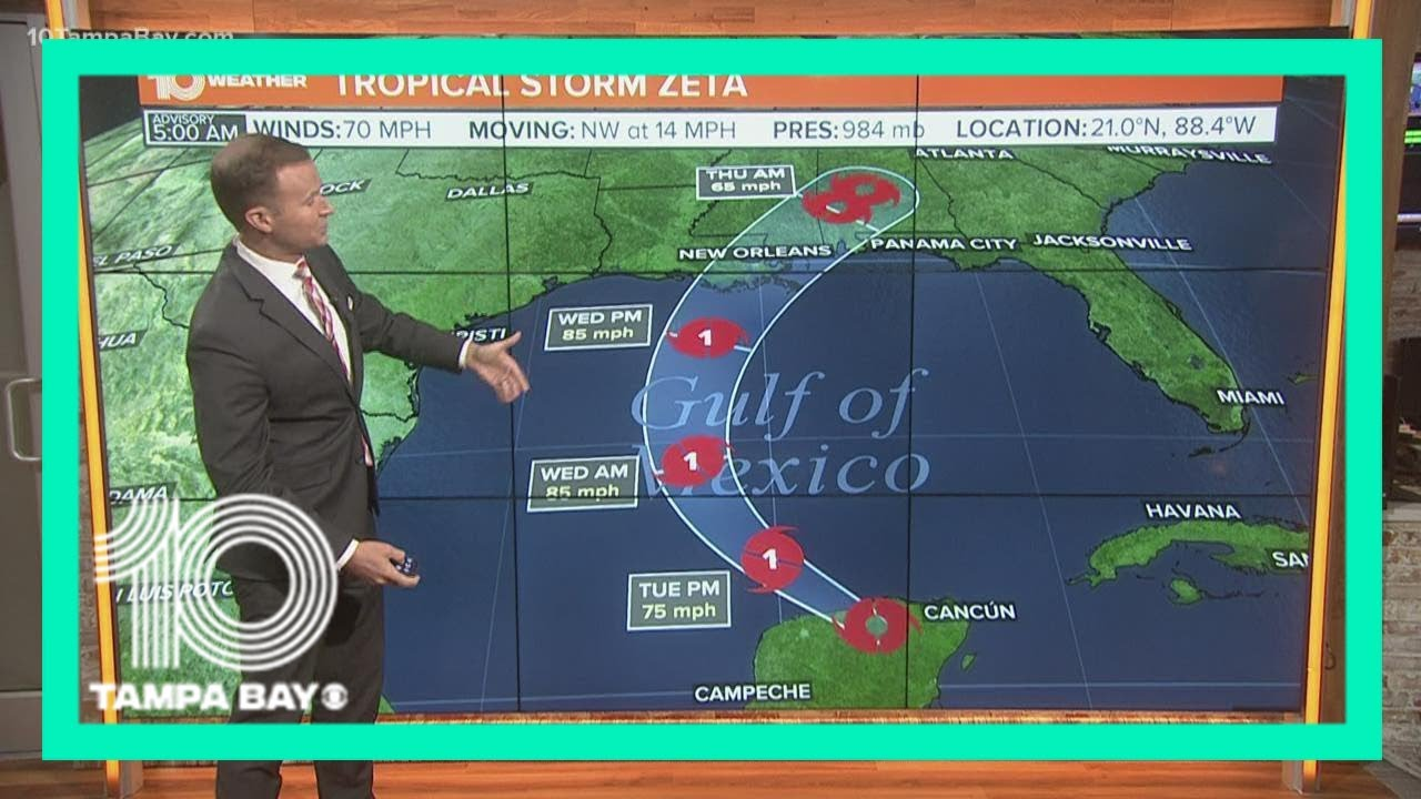 Storm surge and hurricane warnings issued for northern Gulf Coast ahead of Zeta