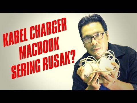 Cara menggulung kabel charger Macbook yang benar | How to roll the correct Macbook charger cable