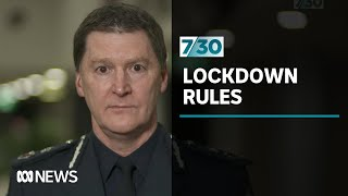 'Small minority' not complying with lockdown rules says Victoria Police | 7.30