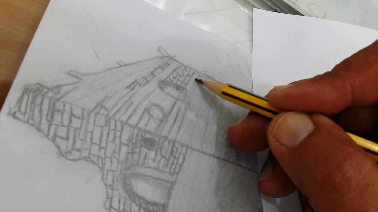 رسم بيوت تراثية Youtube