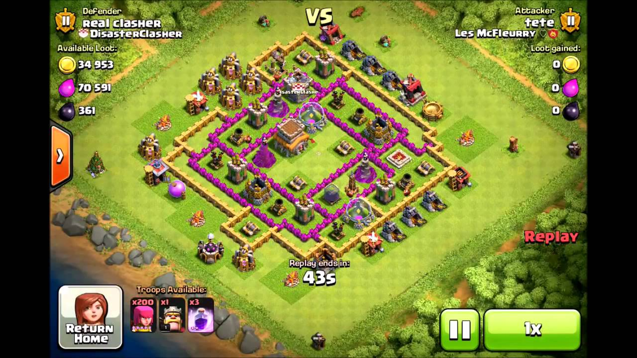trolling noobs with the th8 trolling base in coc   youtube
