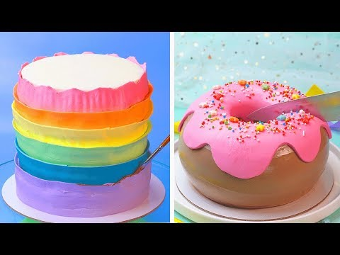 how-to-make-cake-decorating-compilation-|-top-10-colorful-cake-decorating-ideas-|-tasty-cake-recipe