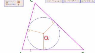 Geometry with MicroStation Construction InCenter of Triangle