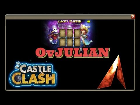 Castle Clash Lucky Flipping 60 Cards! CRAZY Account!
