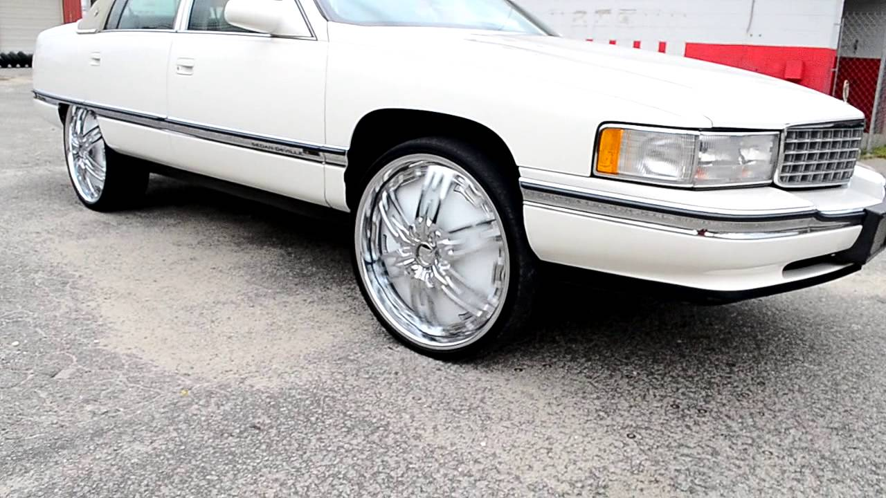 All White Cadillac Deville On 24 Quot Dub Nasty Floaters