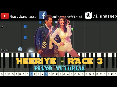 heeriye-song-race-3-piano-tutorial- -salman-khan,- -jacqueline- -midi- -notes- -haseeb-and-hassan