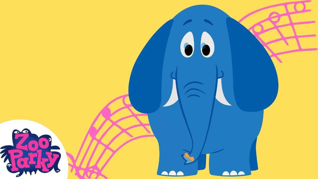zooparky elefante desenho infantil youtube