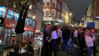 video: Coronavirus latest news: Revellers clearly unable to social distance say Police, but Health Sec claims majority did 'right thing'