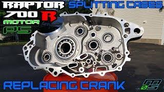 Splitting Cases, Replacing Crank   Raptor 700 Motor P5