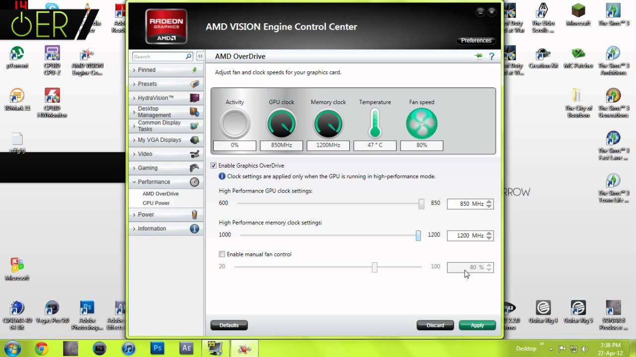 AMD VISION Engine Control Center Tutorial - Overclocking your GPU - ERI