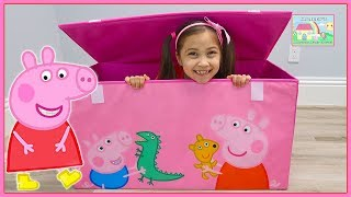 Huge Peppa Pig Toys Box with Surprise Eggs and Toy Surprises!