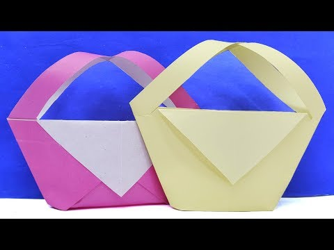 How to make very easy diy paper basket | Magical decor ideas paper crafts
