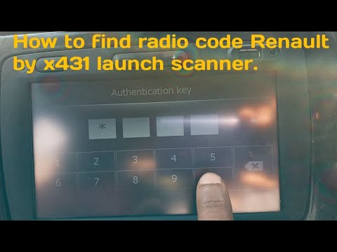 How to find radio code Renault by x431 launch scanner.