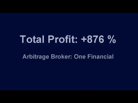 How to earn in forex: arbitrage software trading One Financial Broker profit +876%, +230 %