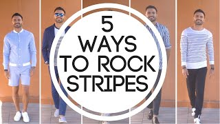 How to Style Stripes - Men Style Guide (Spring Summer outfits)