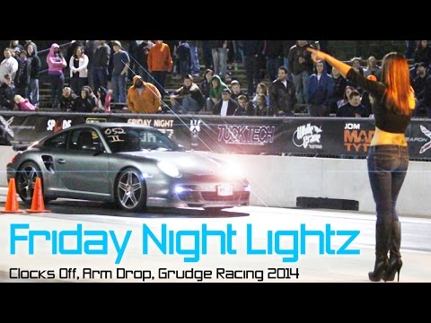 Friday Night Lightz 1: clocks off drag racing event 2014
