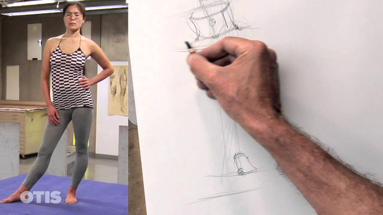Line Drawings From D Models : Gesture drawing i with chris warner otis college youtube