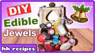Edible Chocolate Jewels | Edible Christmas Decor | Gem Truffles with Edible Glitter | Christmas DIY