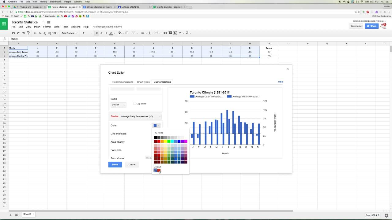 how to make a graph on google sheets youtube