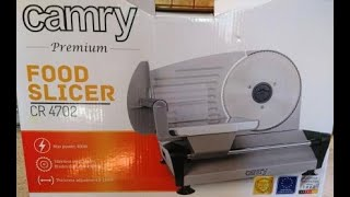 Обзор ломтерезки-слайсер Camry Food Slicer CR 4702