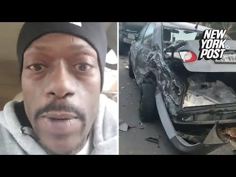 The Woody Show - Guy Cusses His Way Through Accident Scene