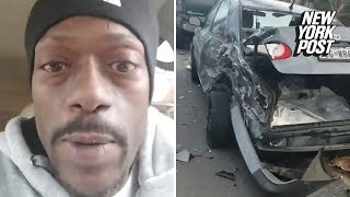 Baixar Man gives hilarious commentary on nasty car crash scene in Maryland | New York Post
