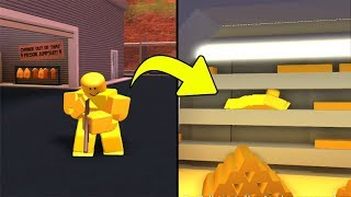 ME CAMUFLANDO NO OURO DO BANK NO JAILBREAK(ROBLOX)