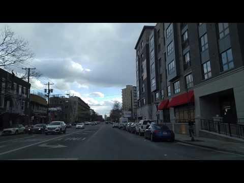Driving from Weehawken to Hoboken,New Jersey