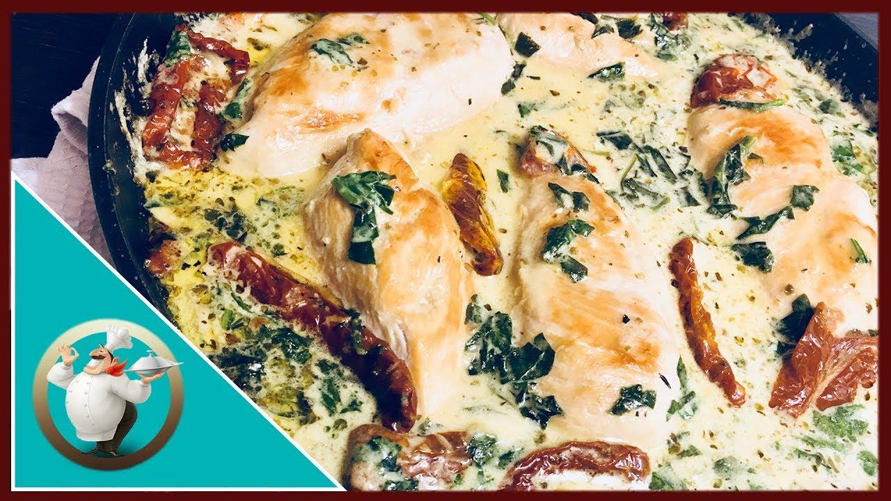 Creamy Garlic Chicken Chicken With Creamy Garlic Sauce The Best Creamy Chicken In 20 Minutes