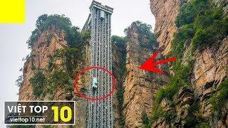 Top 7 chiếc THANG MÁY Kỳ Lạ, Đặc Biệt nhất thế giới - #7 Strangest Elevators - Việt Top 10